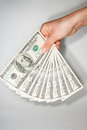 Dollar the greenback against a white background Stock Photo
