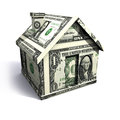 Dollar house Stock Photos