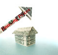 Dollar house with Housing Prices arrow Royalty Free Stock Photo