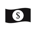 Dollar icon illustrated Royalty Free Stock Photo