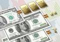 Dollar inflation Royalty Free Stock Photo