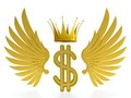 Dollar king Stock Photography