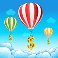 Dollar parachute Stock Photography