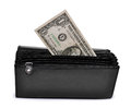 Dollar purse isolated white Stock Photo