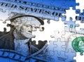 Dollar puzzle Royalty Free Stock Photo