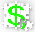 Dollar Puzzle Showing American Investments Royalty Free Stock Photo