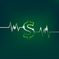 Dollar sign concept with pulsation Royalty Free Stock Photo