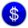 Dollar sign icon Stock Image