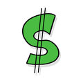 Dollar Sign Illustration Royalty Free Stock Photography