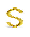 Dollar sign made of coins Royalty Free Stock Photos