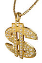 Dollar sign necklace Royalty Free Stock Image