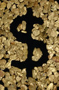 Dollar sign in nuggets Royalty Free Stock Photo