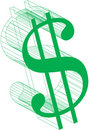 Dollar sign-Wireframe Royalty Free Stock Photo