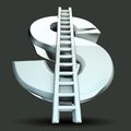 Dollar Stairs Royalty Free Stock Photo
