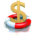 Dollar symbol in buoy Stock Images