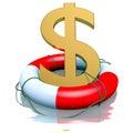 Dollar symbol in buoy Royalty Free Stock Photo