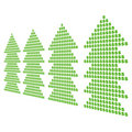 Dollar symbol christmas trees Royalty Free Stock Photo