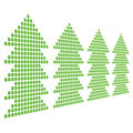 Dollar symbol christmas trees Stock Photos
