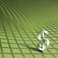 Dollar Symbol on Green Royalty Free Stock Image