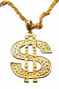 Dollar symbol necklace Royalty Free Stock Photo