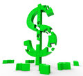 Dollar Symbol Shows Success, Wealth And Income Royalty Free Stock Image
