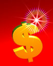 Dollar symbol with Star Royalty Free Stock Image