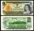Dollar vintage canadian money young queen elizabeth Stock Photography