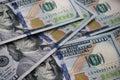 Dollars background u s bills Royalty Free Stock Images