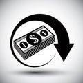 Dollars cash money stack