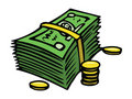 Dollars and cents Royalty Free Stock Photo