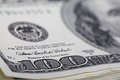 Dollars close up photo of dollar bills Royalty Free Stock Photos