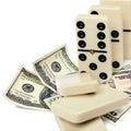 Dollars domino effect Stock Photo