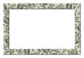 Dollars frame. Isolated Royalty Free Stock Photo