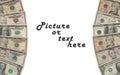 Dollars frame Royalty Free Stock Photo