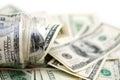 Dollars in money jar Royalty Free Stock Photo