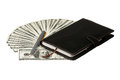 Dollars and notepad Royalty Free Stock Images