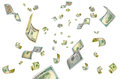 Dollars out of thin air. Royalty Free Stock Photo