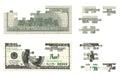 Dollars puzzle isolated on white background Stock Image