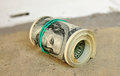 Dollars roll Stock Photography