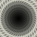 Dollars tunnel flow in black hole d illustration Royalty Free Stock Photos