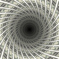 Dollars tunnel flow in black hole d illustration Royalty Free Stock Photo