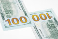 Dollars two hundred new on grey background Royalty Free Stock Image