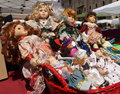 Dolls in a mantua italy flea market Stock Photos
