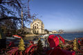 Dolmabahce mosque in istanbul turkey at the coast of bosphorus Royalty Free Stock Photos