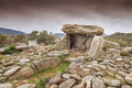 Dolmen at Revincu in Corsica Royalty Free Stock Images