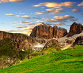 Dolomite peaks,Sella Royalty Free Stock Images