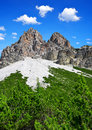 Dolomites alps italy fanes park Royalty Free Stock Photos