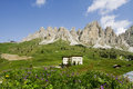 Dolomites landscape of the trentino italy Royalty Free Stock Photos