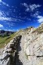 Dolomites, mountain ridge Stock Photo