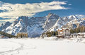 Dolomites Mountains And Resort...